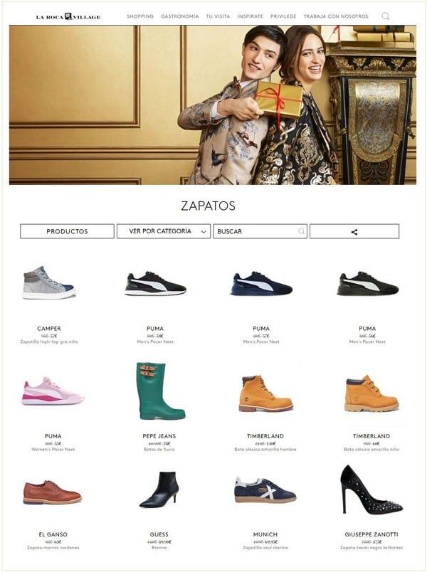 Zapatos mujer y hombre La Roca Village - Diciembre 2018 - NOB 320