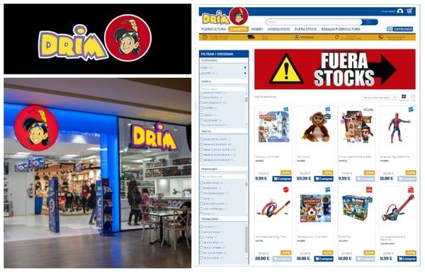 Fuera Stocks en Drim - Outlet juguetes puericultura - NOB 322 - Enero 2019