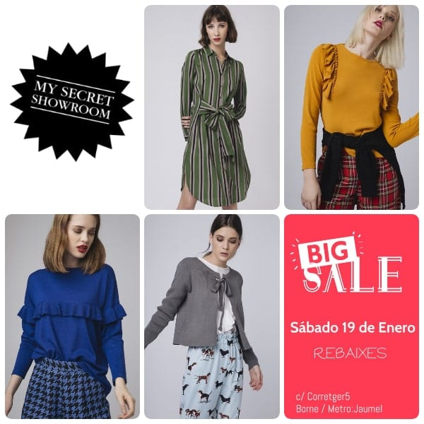 My Secret Showroom venta especial muestrarios Barcelona - NOB 322 - Enero 2019