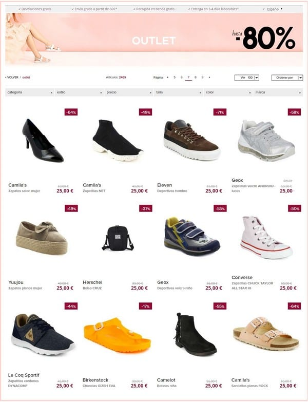 Outlet online zapatos Casas Club - NOB 322 - Enero 2019