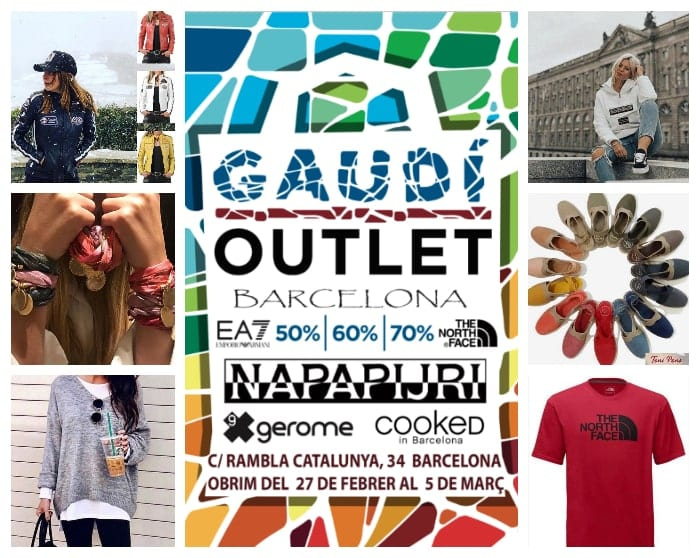 Collage venta especial multimarca Gaudí Outlet Barcelona - NOB 324 - Febrero 2019