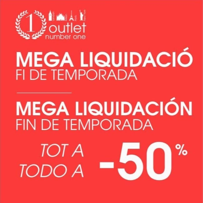 Liquidación fin temporada Outlet Number One Salt Girona - NOB 324 - Febrero 2019