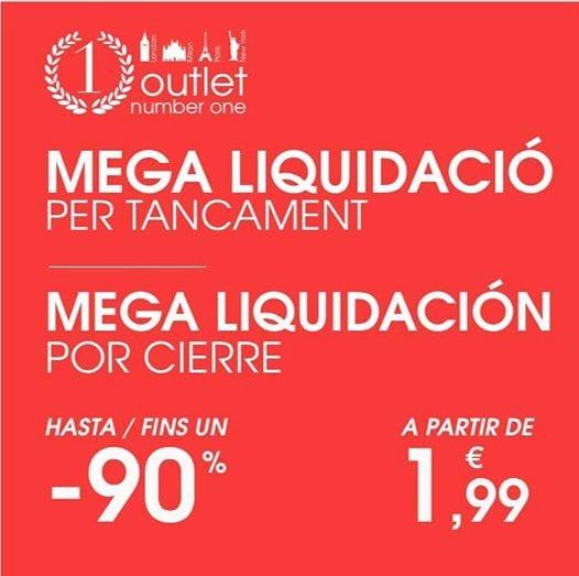 Liquidación tienda Outlet Number One en Comte Salvatierra Barcelona - NOB 323 - Febrero 2019