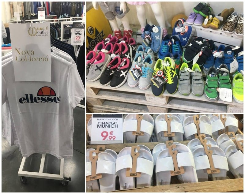 Chanclas y zapatillas Munich en Outlet Number One Barcelona - NOB 326 - Marzo 2019