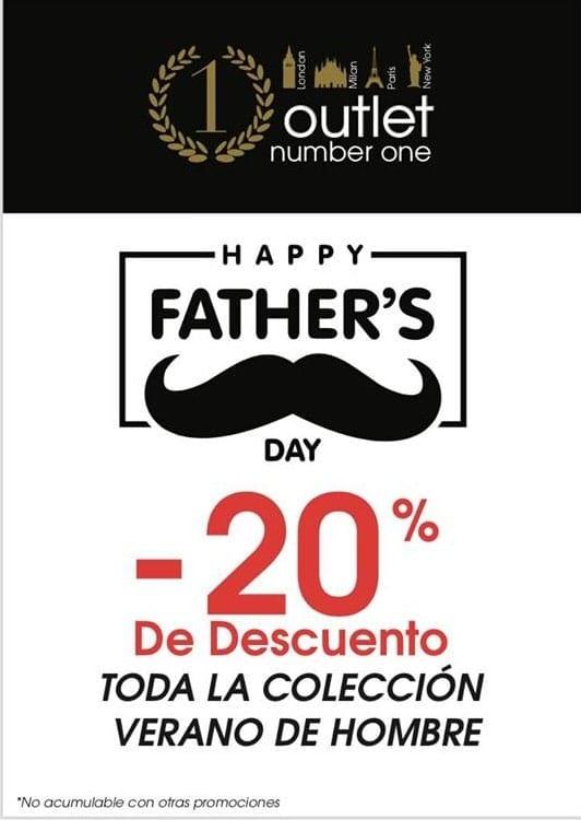 Día del Padre en tiendas Outlet Number One - NOB 326 - Marzo 2019
