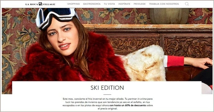 Ski Edition en La Roca Village - Noticias Outlet en Barcelona 325 - Marzo 2019