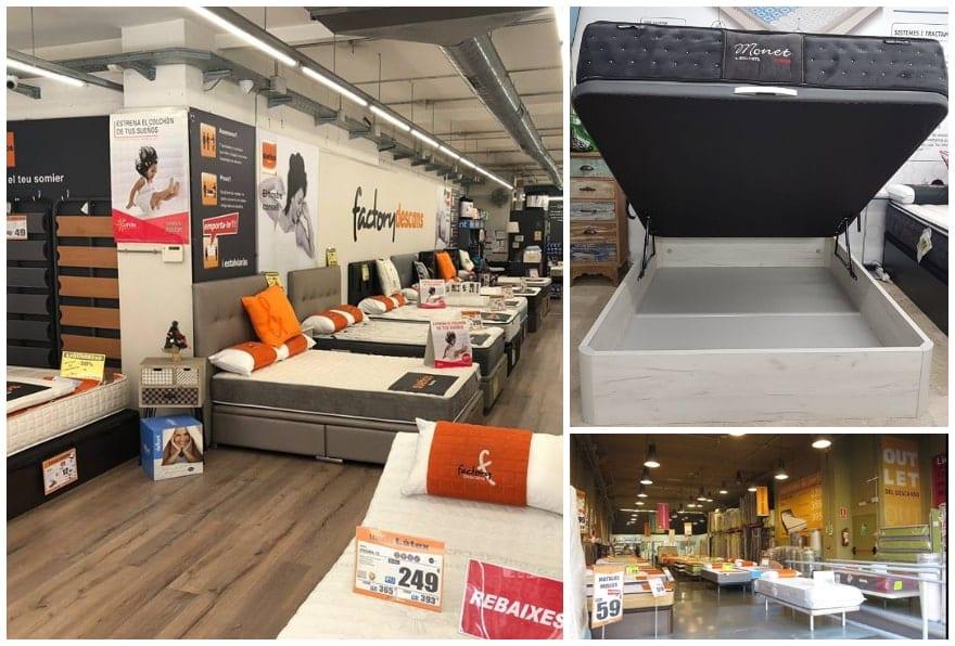 Tiendas Factory Descans colchones somier outlet en Barcelona - NOB 326 - Marzo 2019