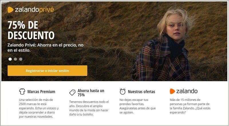 Zalando Privé ventas outlet online - NOB 326 - Marzo 2019
