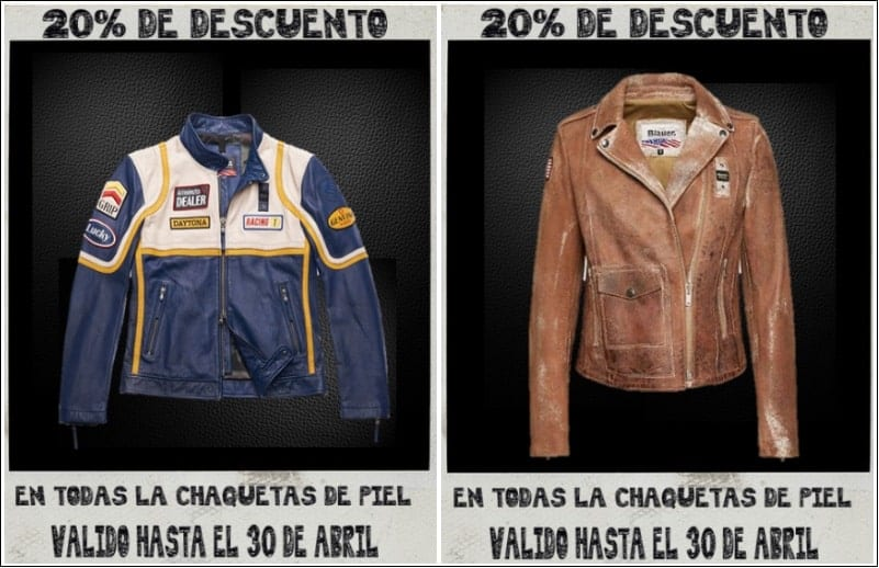 Descuento adicional chaquetas piel en Barcelona Outlet - NOB 328 - Abril 2019