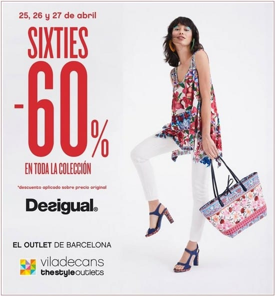 Desigual Sixties en Viladecans The Style Outlets - Noticias Outlet en Barcelona 328 - Abril 328
