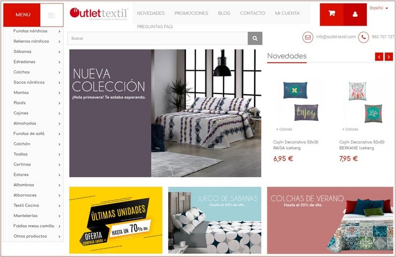 Outlet Téxtil online - Noticias Outlet en Barcelona 327 - Abril 2019