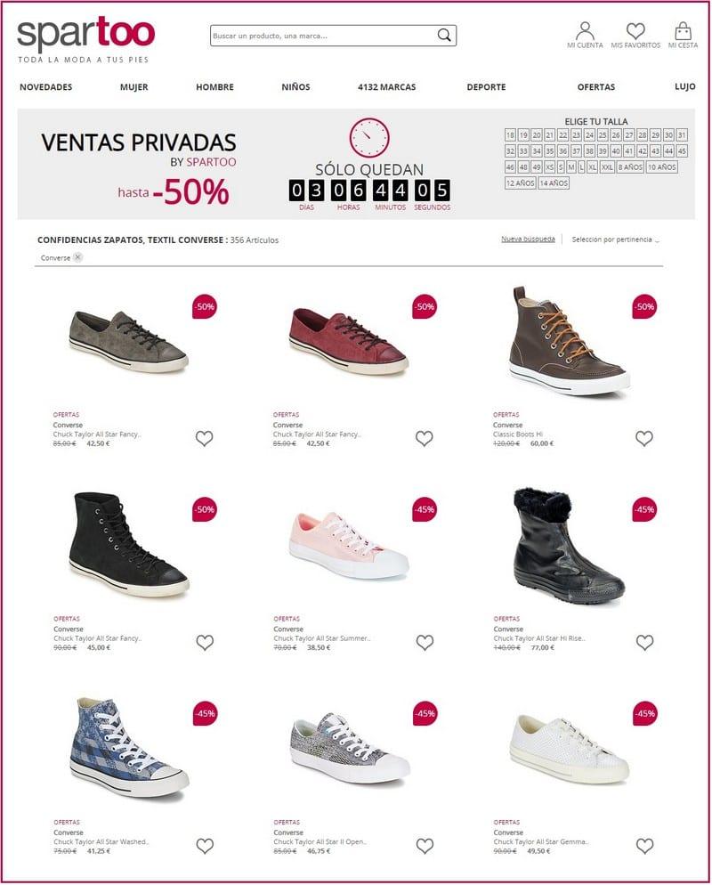 Spartoo Outlet ofertas calzado zapatos - NOB 328 - Abril 2019