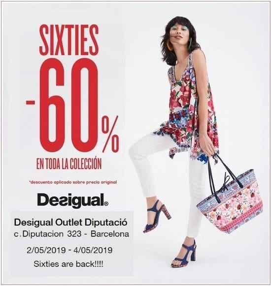 Sixties en Desigual Outlet Diputació Barcelona - Noticias Outlet en Barcelona 329 - Mayo 2019