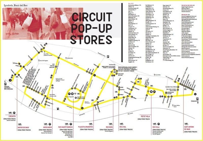 Mapa tiendas Rec019 Igualada - 8 a 11 Mayo 2019