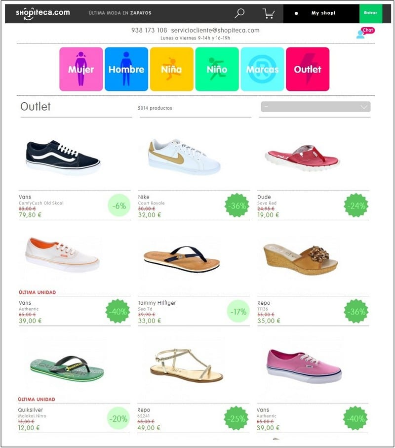 Outlet online calzado Shopiteca - NOB 330 - Mayo 2019