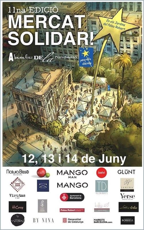 Cartel Mercat Solidari Fundación Pequeño Deseo Palau Robert Barcelona - NOB 331 - Junio 2019