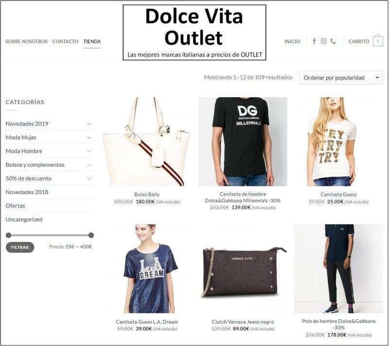 Tienda online Dolce Vita Outlet Barcelona - NOB 332 - Junio 2019