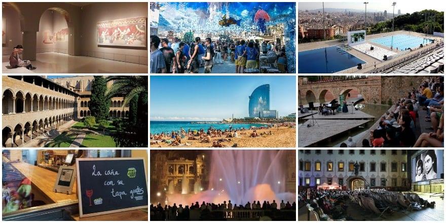 DE collage - Especial Ocio en Barcelona - Verano 2019