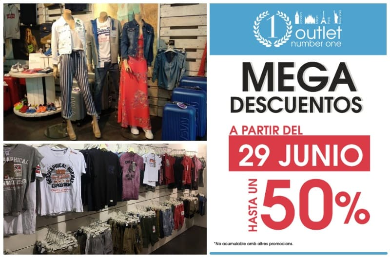 Mega Descuentos Rebajas en Outlet Number One Barcelona - NOB 333 - Julio 2019