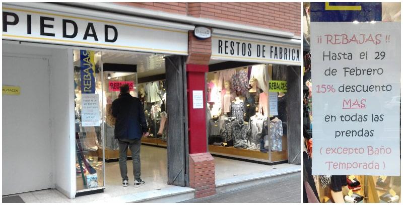 Piedad Lenceria Corsteria Stocks Outlet Barcelona - NOB Febrero 2020