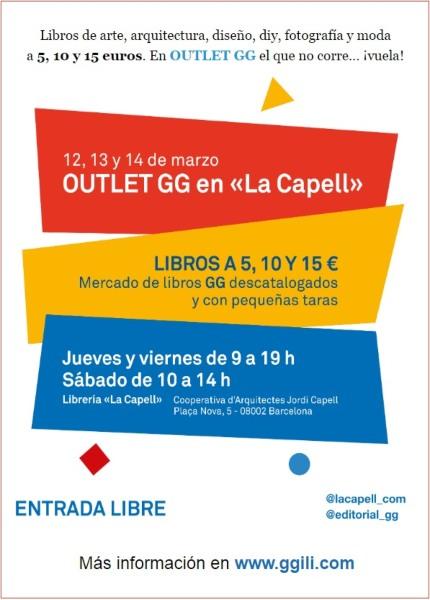 Venta especial Outlet Editorial Gustavo Gili GG en Barcelona - NOB 337 - Marzo 2020