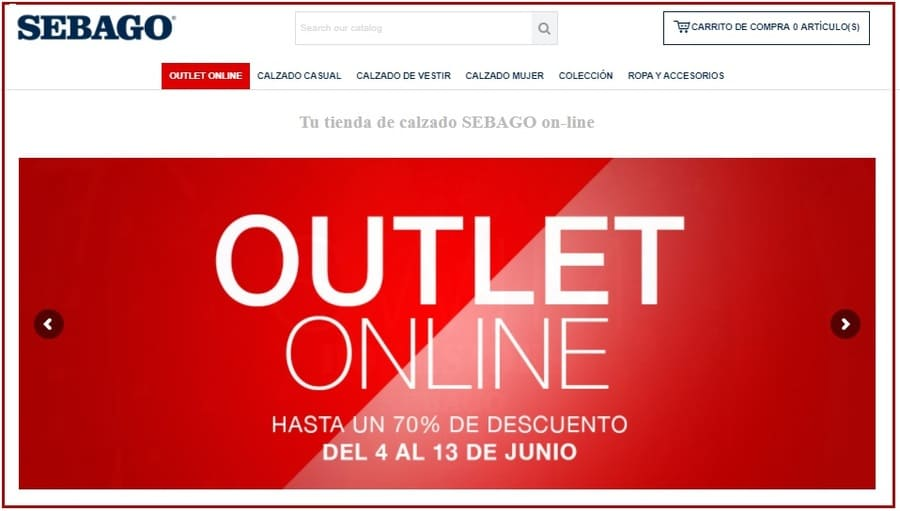 Outlet online Sebago - Noticias Outlet en Barcelona - Junio 2021